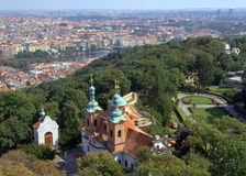 Prague - Aerial view from Petřín tower Stock Image