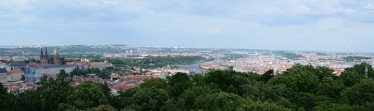 Prague aerial view from Petrin tower, Prague Royalty Free Stock Images