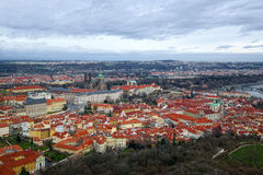 Prague, aerial view at winter Stock Image