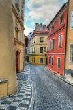 Prague alleyway Royalty Free Stock Photography