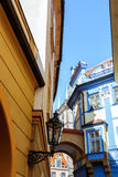 Prague alleyway - historical centre of the Prague Stock Image