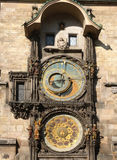 Prague. Ancient Clock in Prague (UNESCO), the Czech Republic Stock Photography