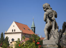 Prague - angel by Loreto chruch Stock Image