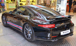 PRAGUE - APRIL 14: Porsche 911 991 Fotografering för Bildbyråer
