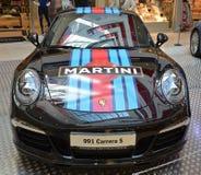 PRAGUE - APRIL 14: Porsche 911 991 Arkivfoto