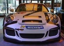 PRAGUE - APRIL 14: Porsche 911 991 GT3 Fotografering för Bildbyråer