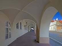 Prague - Arcade by Loreta Square. In Hradcany Royalty Free Stock Images