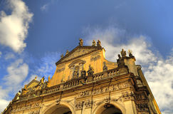 Prague architechture. Low angle view of building in prague, Czech republic Royalty Free Stock Photos