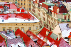 Prague. View on the Prague traditional architecture buildings Royalty Free Stock Photography