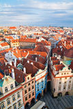 Prague Architecture From Above Stock Photo