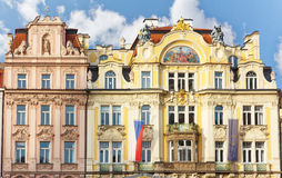 Prague house architecture Stock Photo