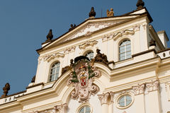 Prague architectures. An example of the beautiful architecture of Prague, Czech Royalty Free Stock Images