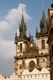 Prague architectures. An example of the beautiful architecture of Prague, Czech Royalty Free Stock Photography