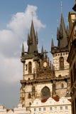 Prague arkitekturer. Royaltyfri Fotografi