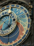 Prague astrological clock. Close up of astrological clock in Prague Stock Photography