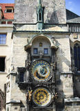 Prague. Astronomic clock. Old town tower with astronomic clock in Prague Royalty Free Stock Photo