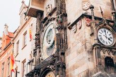 The Prague Astronomical Clock. At Prague Stock Photos