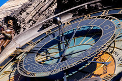 Prague. Astronomical clock. Astronomical clock on the building of City Hall in Prague stock photography