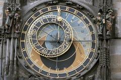 Prague Astronomical Clock. Or Prague Orloj Stock Photo
