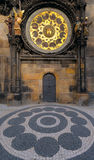 Prague Astronomical Clock. The Astronomical Clock, built in to one side of the Old Town Hall Tower, with a bit of adjucent pawement in front Stock Photography