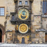Prague Astronomical Clock. Built in to one side of the Old Town Hall Tower. Old Prague, Czech Stock Images