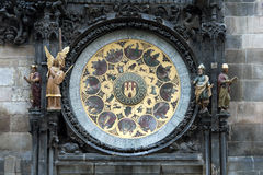 The Prague Astronomical Clock. Or Prague Orloj. The clock was first installed in 1410, making it the third-oldest astronomical clock in the world and the only Royalty Free Stock Photo