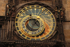 The Prague Astronomical Clock. Or else the Old Town Astronomical Clock, is one of the most renown and most visited tourist attractions in the historical centre Stock Photography