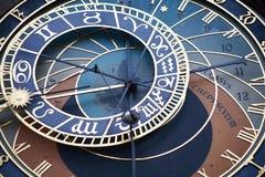 Prague Astronomical Clock Stock Image