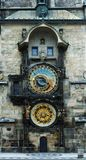 Prague astronomical clock. In Old Town Square Stock Image