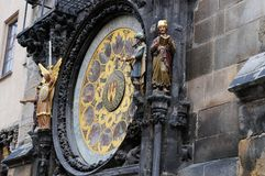 Prague astronomical clock with apostels Stock Photos
