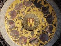 Prague astronomical clock art work Stock Photos
