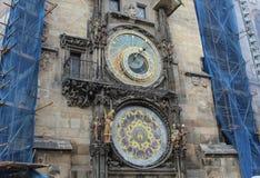 The Prague Astronomical Clock being reconstructed. The Prague Astronomical Clock being reconstructed Stock Image