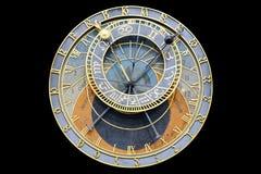 Prague astronomical clock. Stock Photo