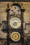 The Prague Astronomical Clock close up Royalty Free Stock Images