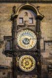 The Prague Astronomical Clock close up Royalty Free Stock Images