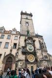 Prague astronomical clock. Czech Republic Stock Image