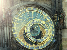 Prague astronomical clock. In Prague Czech Republic Royalty Free Stock Photography