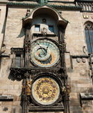 The Prague astronomical clock, Czech Republic Royalty Free Stock Images