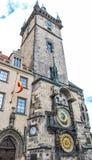 The Prague Astronomical Clock on a day Stock Photos