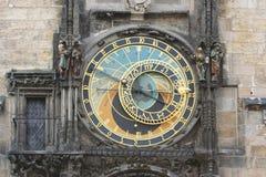 Prague astronomical clock detail of astronomical dial Stock Photo