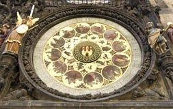 Prague astronomical clock Stock Photography