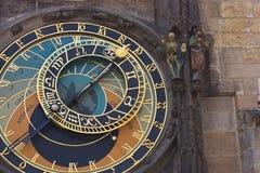 Prague astronomical clock detail of handles and astronomical dia Royalty Free Stock Photos