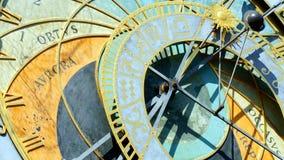Prague astronomical clock. Stock Photos