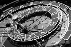 Prague Astronomical Clock. Details of the old Prague Astronomical Clock Royalty Free Stock Images