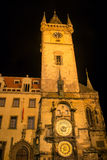 The Prague Astronomical Clock in the evening Royalty Free Stock Photography