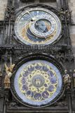 Prague astronomical clock. The famous medieval landmark of Prague, the Prague astronomical clock on an autumn day Royalty Free Stock Photo