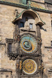 Prague astronomical clock. Astronomical Clock in Prague. Inscribed in UNESCO Stock Photography