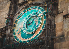 Prague Astronomical Clock. Landmark of Czeh Stock Image