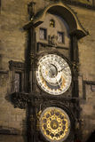 Prague astronomical clock at night Royalty Free Stock Image
