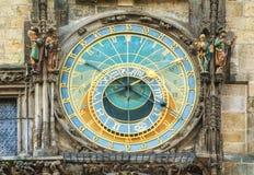 The Prague Astronomical Clock Stock Photo
